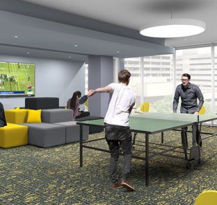 Game Lounge and Luxury Amenities at The Nest 1324 North Broad - Temple Student Housing