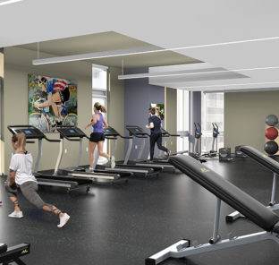 Fitness Center at The Nest 1324 – Temple University Off-Campus Housing