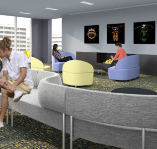 Lounge Area at The Nest 1324 North Broad Street - Temple University Apartments