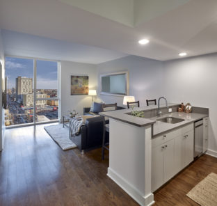Interior of a two bedroom student apartment