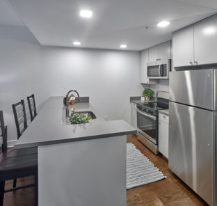 Interior of a 2 Bedroom apartment kitchen