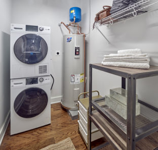 Student apartment laundry room